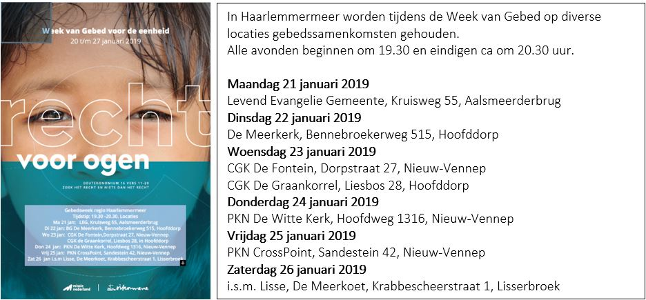 Week Van Gebed 2019 Zet Recht Voor Ogen De Witte Kerk In Nieuw